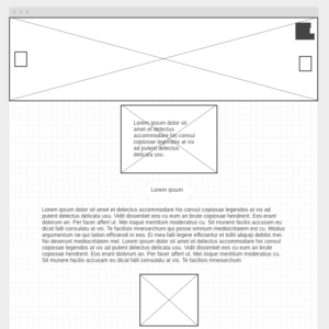 Wireframe ou zoning de site internet