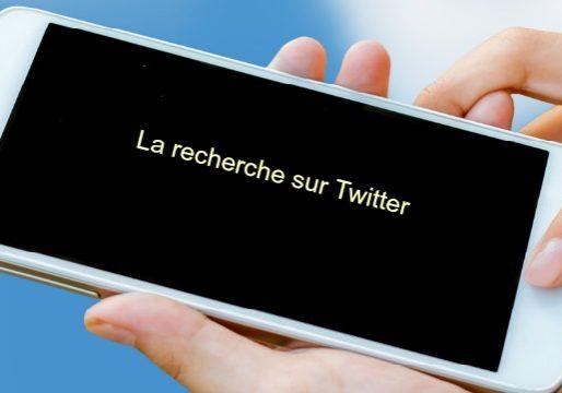 recherche avec Twitter